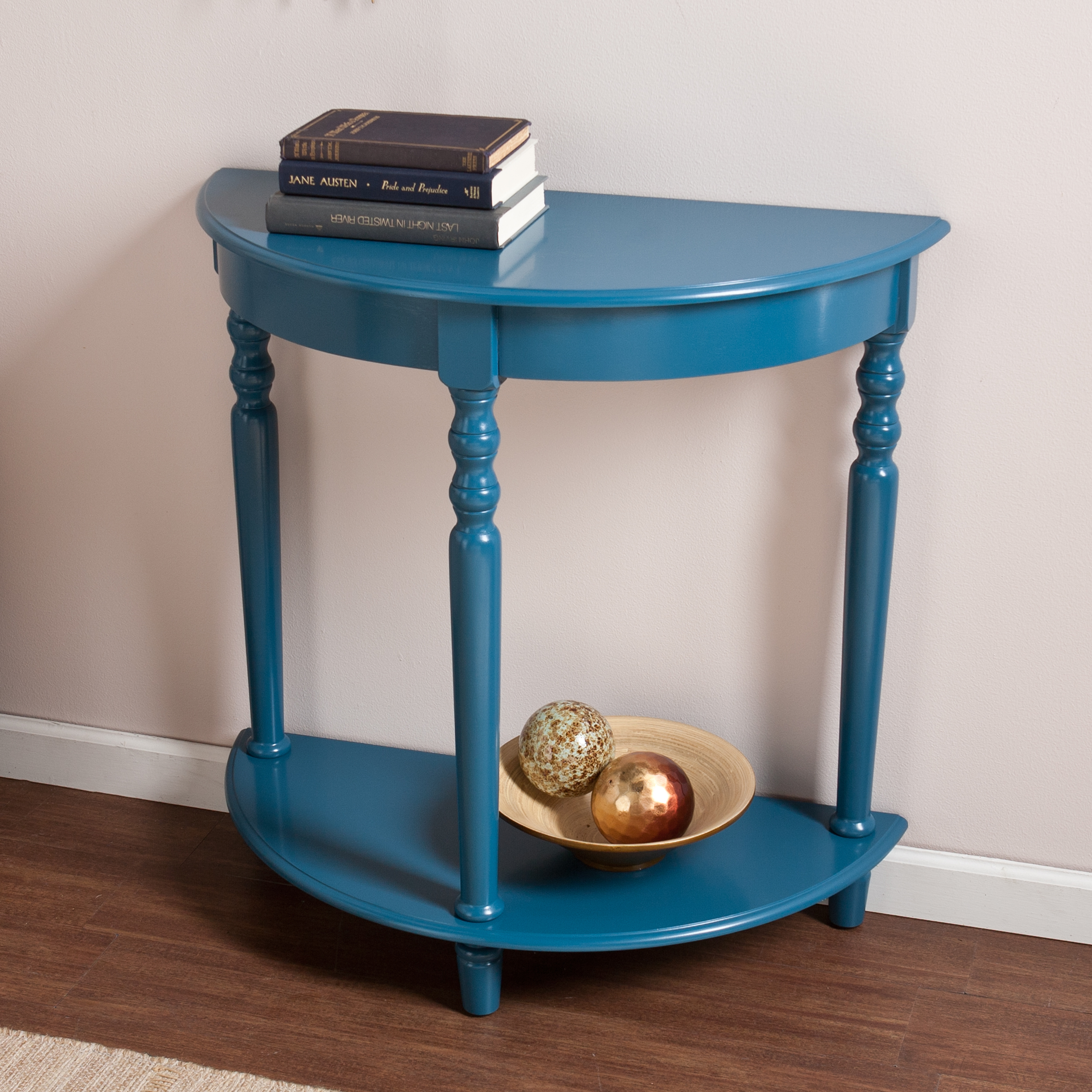 painted accent table with lucille end stein beautiful color furniture rustic kitchen and dining room teal colored tables glass display ikea king farmhouse set legs coffee storage