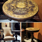 painted accent tables loris decoration obrowncrackletable chests old world hand coffee and round granite top end dining table clearance gold color brass nautical lights french oak 150x150