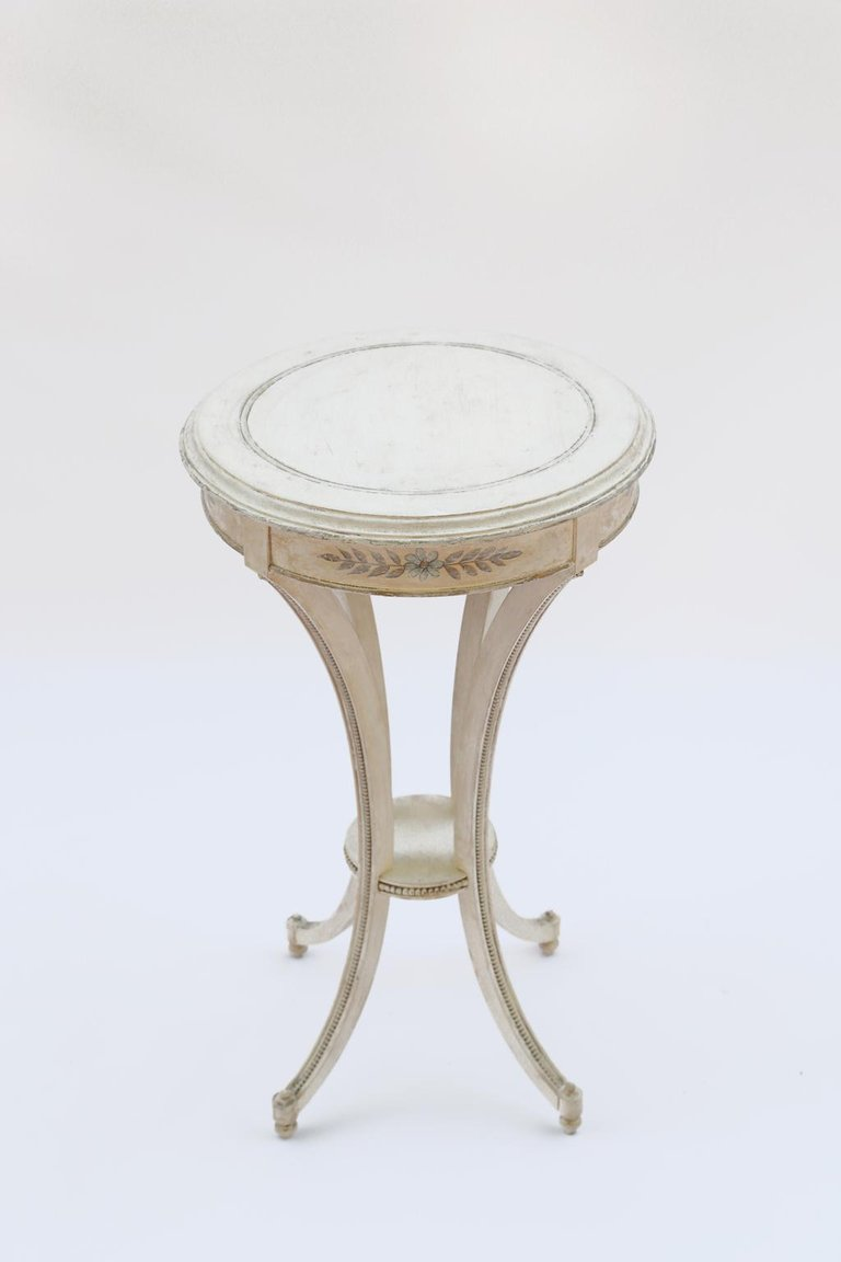 painted candle stand accent table for master metal neoclassical mirror with drawers inexpensive house decor round topper patterns room essentials hairpin kartell side plastic