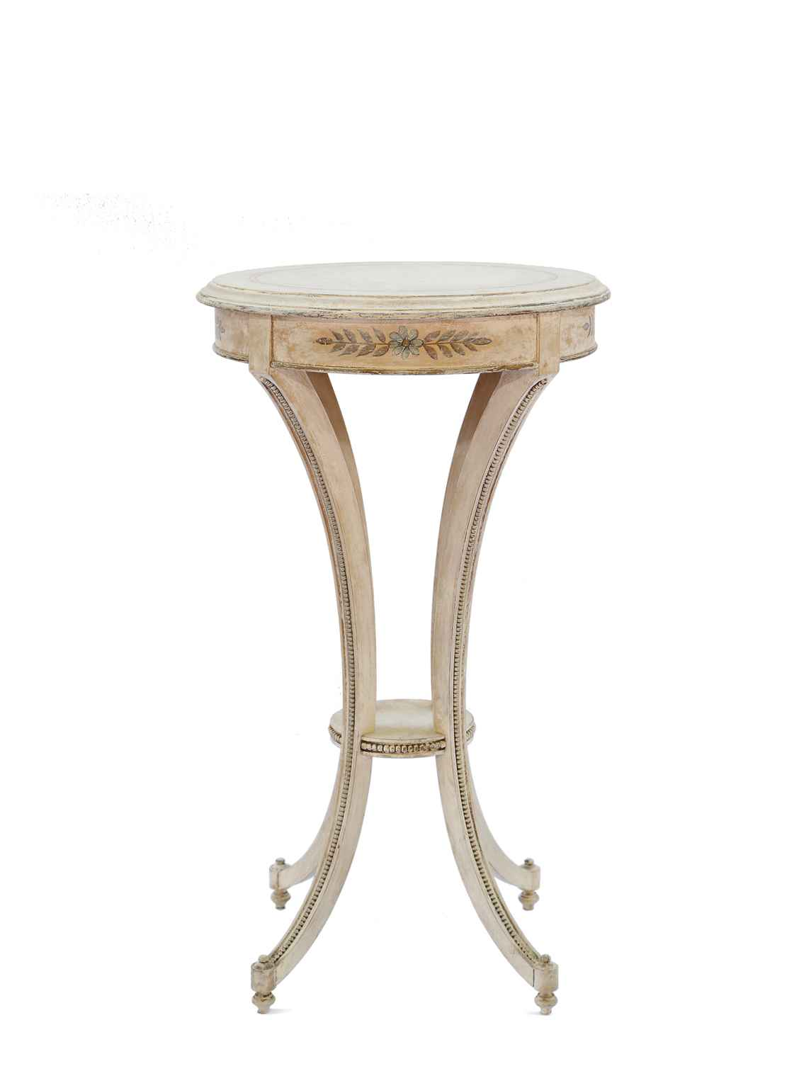 painted candlestand accent table james jeffrey antiques metal italian living room side decor furniture painting laminate cabinets patio coffee with storage west elm stools