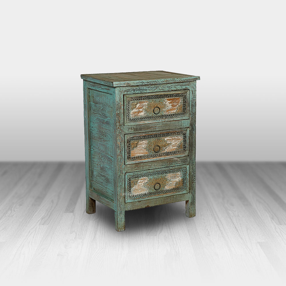 painted drawer chest cowhide western furniture cwf accent tables chests french oak concrete look coffee table designer linens counter height round pub white contemporary pier sofa