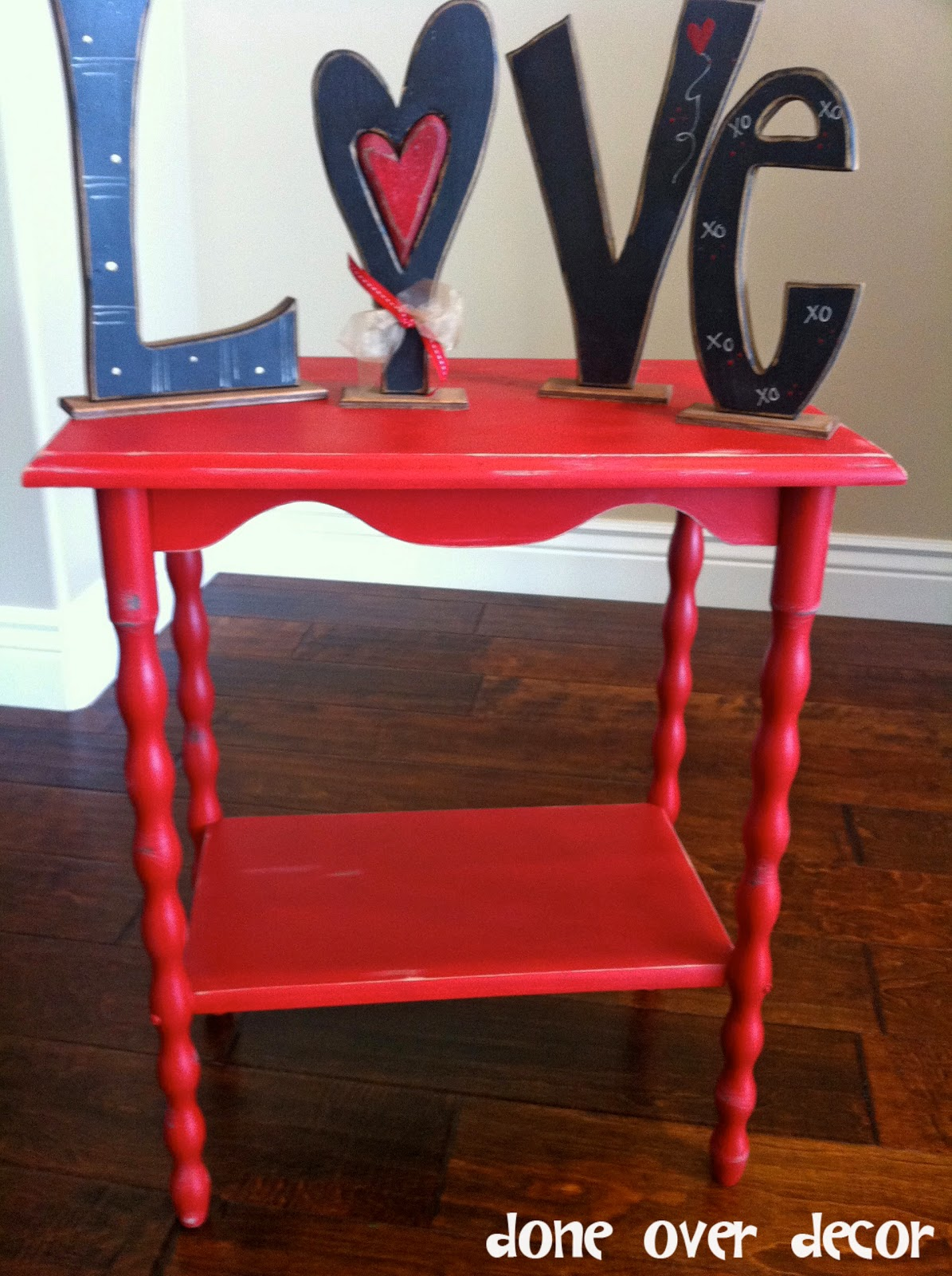 painted nest custom order red accent table industrial metal with drawers pair lamps triangle end drawer rattan windham console patio furniture clearance victorian couch narrow