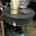 painted round the perfect piece home furnishings metal accent table this super cute would great any room your house mirror with drawers modern wood coffee end lamps goods tables 150x150