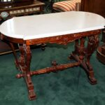 pair antique marble top accent tables for antiques ori victorian style table country origin usa condition year description american late magnussen furniture coffee white round 150x150