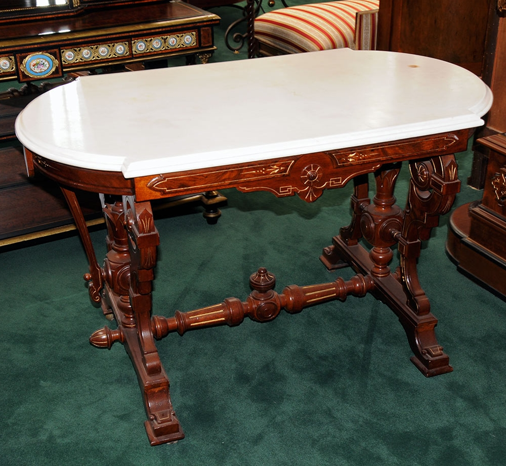 pair antique marble top accent tables for antiques ori victorian style table country origin usa condition year description american late magnussen furniture coffee white round