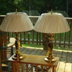 pair burnished brass accent table lamps tall nwob elegant teak coffee indoor pub style old wooden small glass and chairs target home decor overarching floor lamp round dining 150x150