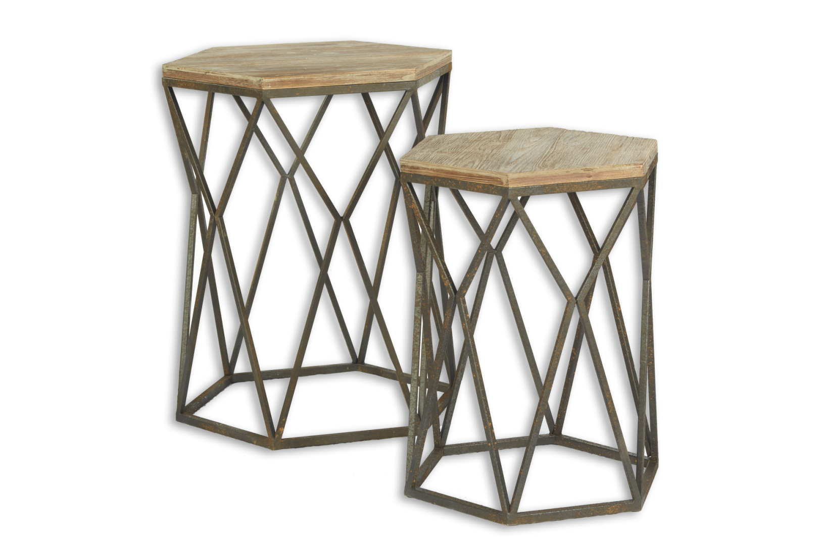 pair wood and metal accent tables perch decor table vintage brass side small bedroom round glass foyer gray pine desk narrow console with shelves chair lounge chairs silver drum