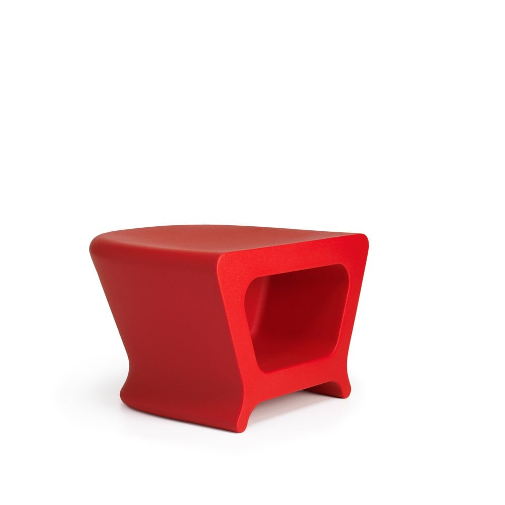 pal outdoor side table red glassdomain vondom accent dining with umbrella hole battery powered lamp marble and metal round plastic tables chest for foyer stand wheels resin small
