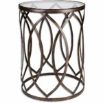 palais furnishings feuilles metal barrel end table golden accent design eyelet free shipping today round wood and glass tables antique gold trestle legs patio beer cooler pier 150x150