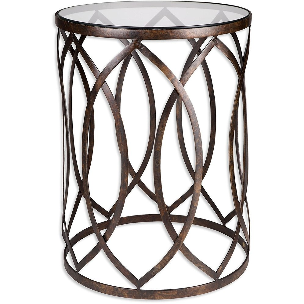 palais furnishings feuilles metal barrel end table golden accent design eyelet free shipping today round wood and glass tables antique gold trestle legs patio beer cooler pier