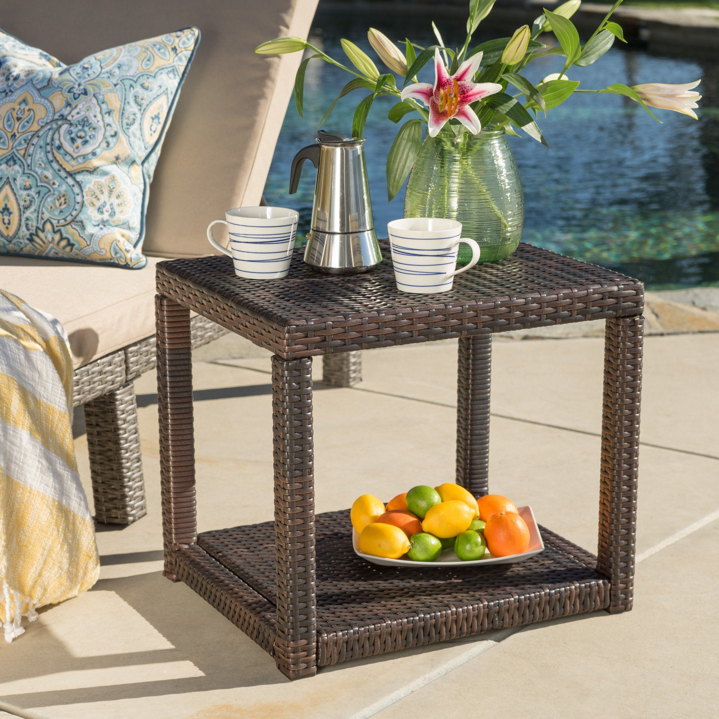 palawan outdoor wicker accent table products threshold umbrella dining mats teal accents lamps for living room traditional nautical bedroom furniture white ginger jar lamp base