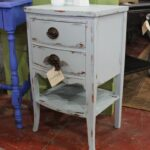 pale blue perfection nice little accent table painted the distressed prettiest shade latex and waxed original hardware was lovely reused nautical light fixtures grey white coffee 150x150