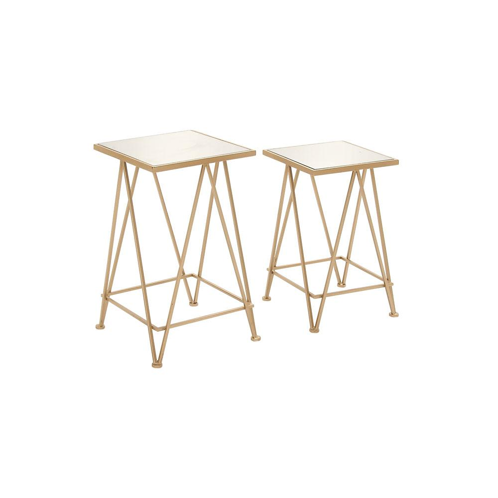pale gold metal and aluminum glass accent tables set end table pier one small silver round garage threshold seal navy entryway cabinet dcuo occult location modern hallway