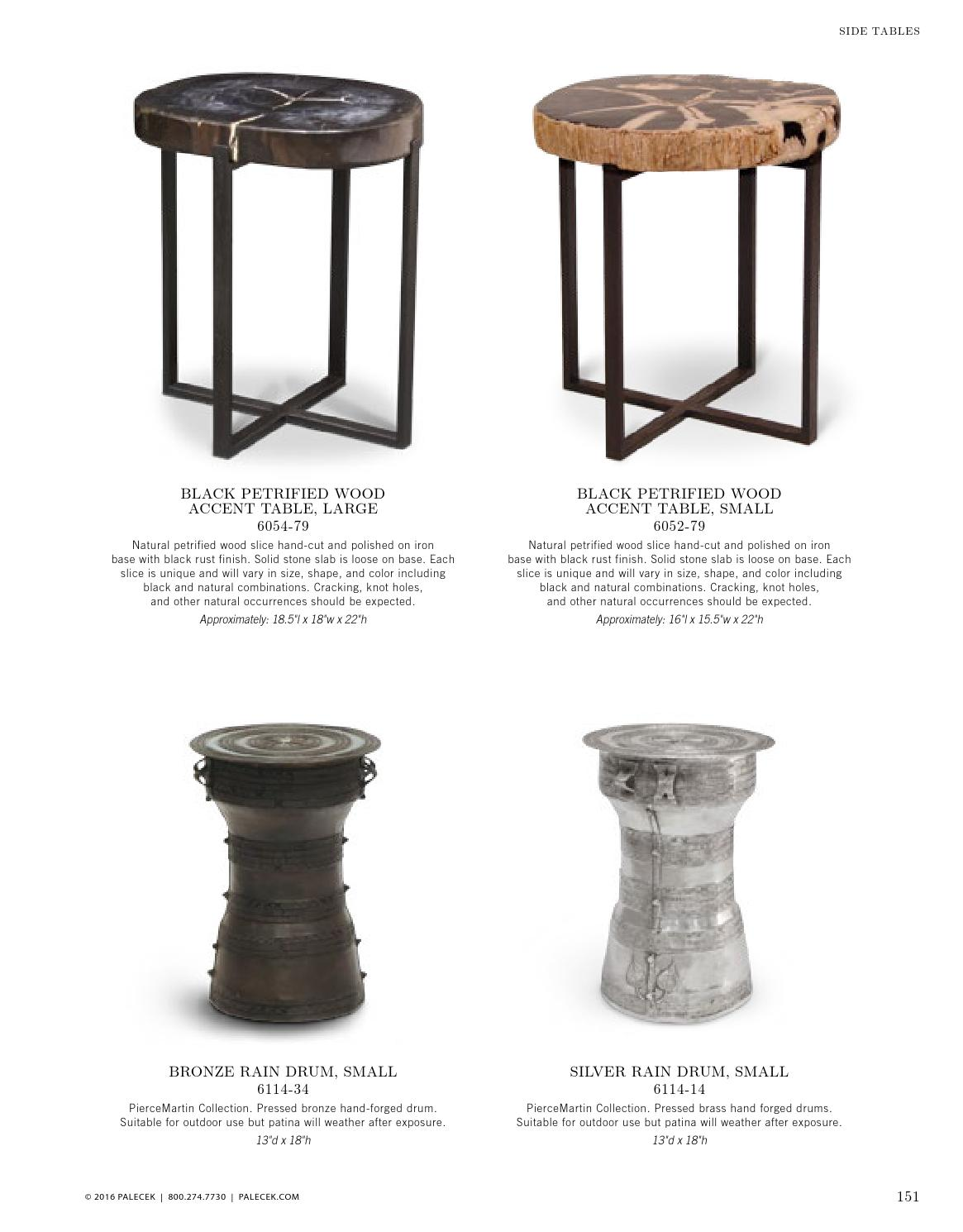 palecek furniture accessories catalog vol page rain drum accent table palecekdesign issuu mosaic side sofa for small room victorian under cabinet wine rack coffee and set ikea box