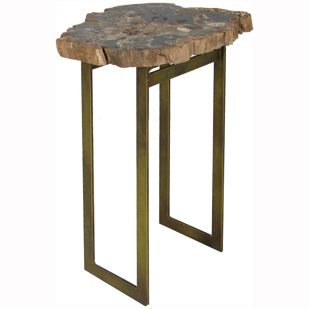 palecek petrified wood accent table tables benjamin rugs furniture long skinny console pub tops extra large tablecloths storage ott ikea lighting seattle pier one mirrored end