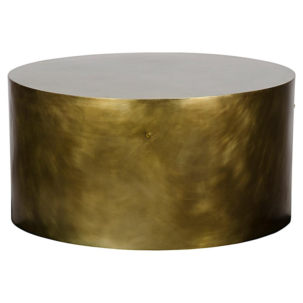 palladio modern antique brass cylinder drum coffee table kathy kuo product accent home corner chests cabinets teak one leg weatherproof outdoor furniture build your own end asian