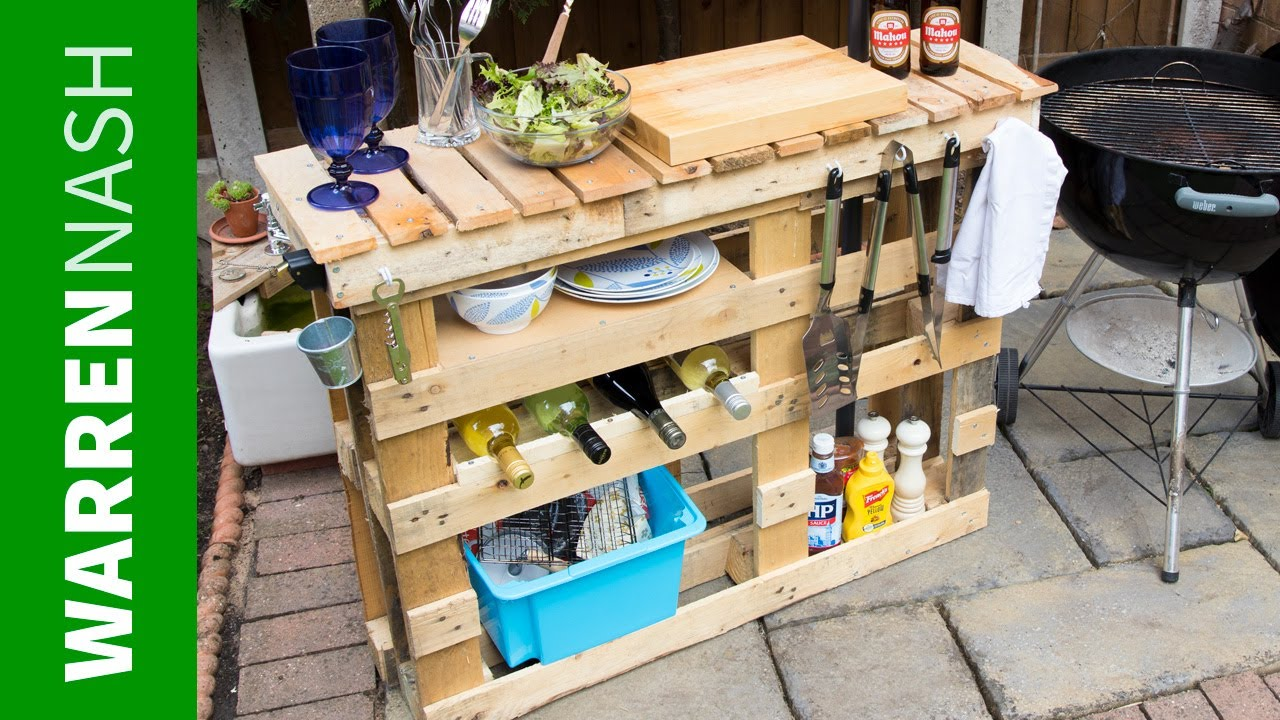 pallet bbq station make the best outdoor grill area easy diy side table warren nash trestle dimensions sheesham dark coffee narrow console cherry occasional tables small round