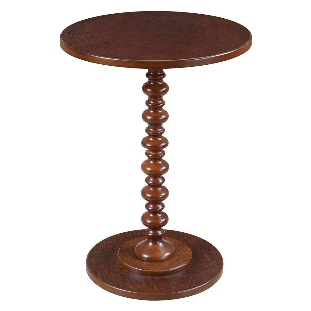 palm beach spindle table mahogany brown johar furniture modern pedestal accent inexpensive legs small pine bookcase black and silver nest tables patio target threshold console