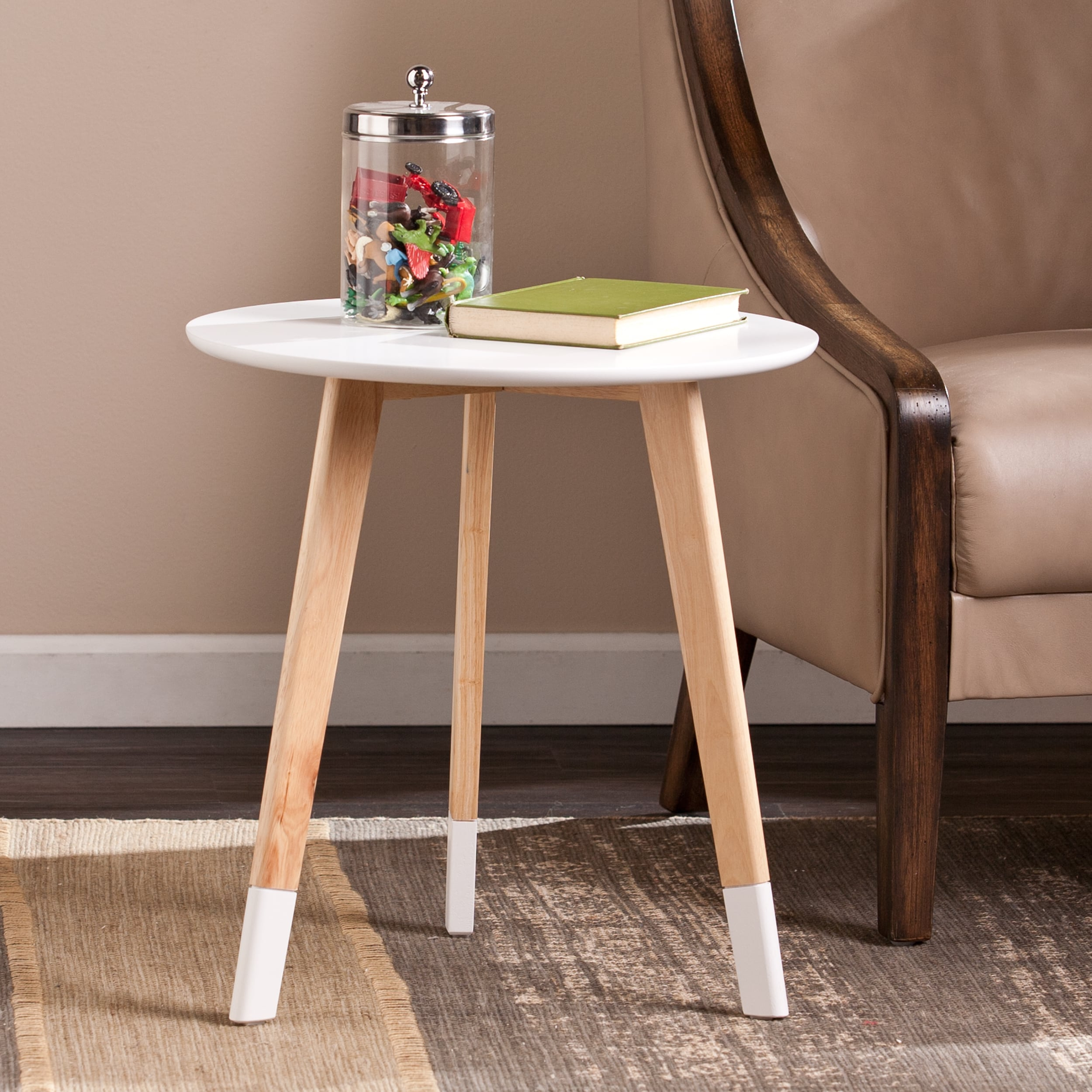 palm canyon theresa round accent table beige products nursery metal small wicker patio furniture sets black hall off white nightstand unique cocktail tables classic design
