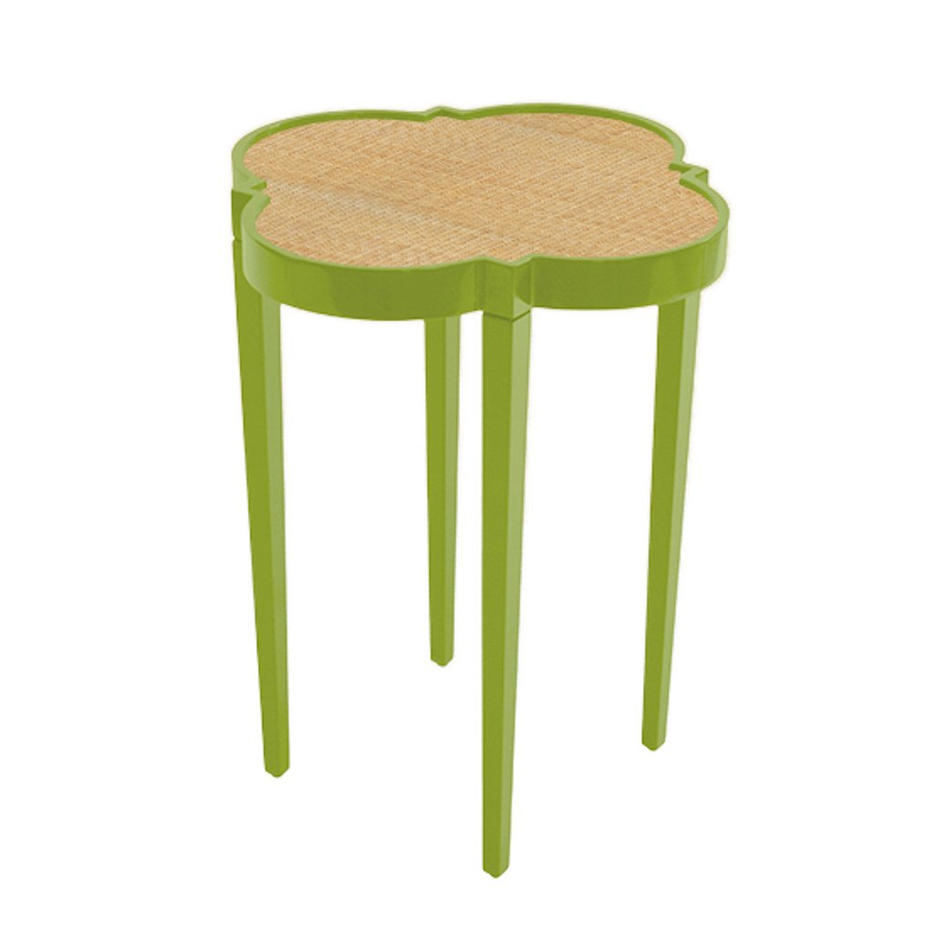 parakeet and raffia quatrefoil accent table hive home gift garden tinysidetable web green elm chair half round with drawers leather occasional steinway furniture best chairs barn