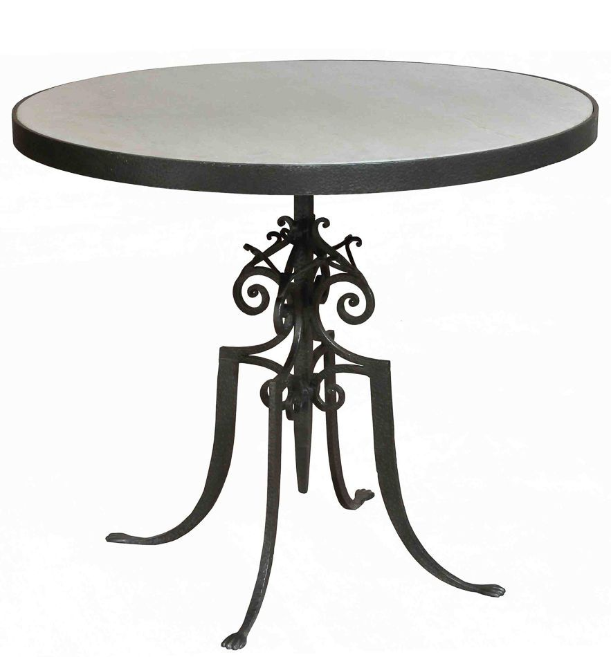 paris bistro table grey iron white marble top circle scrolled accent accents new martelleinternational frenchcountry home dishes jofran pottery barn benchmark pool dining cast