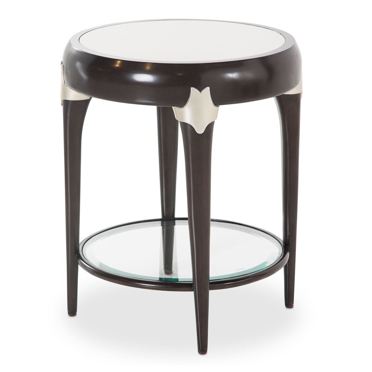 paris chic round accent table espresso finish usa furniture sauder storage cabinet cube tables ikea blue leather chair trestle measurements carpet threshold trim cream metal side