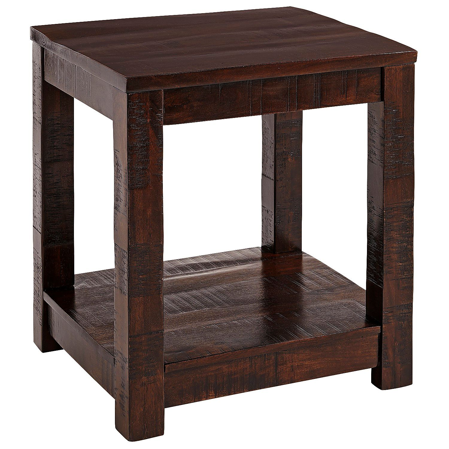 parsons tobacco brown end table pier imports accent tables rustic wine rack threshold teal ethan allen painted furniture meyda tiffany dragonfly lamp oval coffee with shelf glass