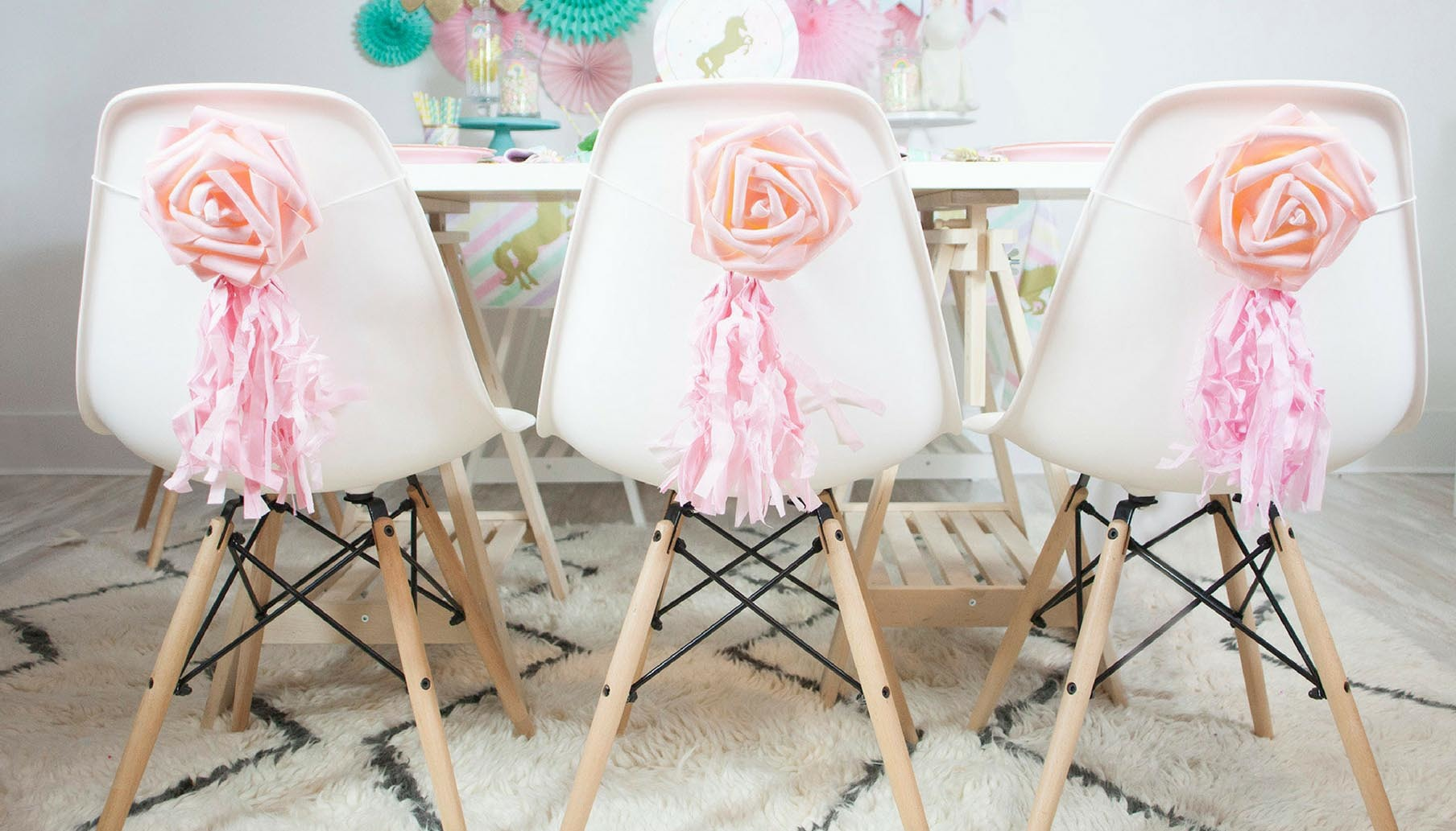 pastel unicorn birthday party accent table sparkle chair backers dessert granite top end tables rattan garden furniture homebase unique brass round glass coffee steel patio