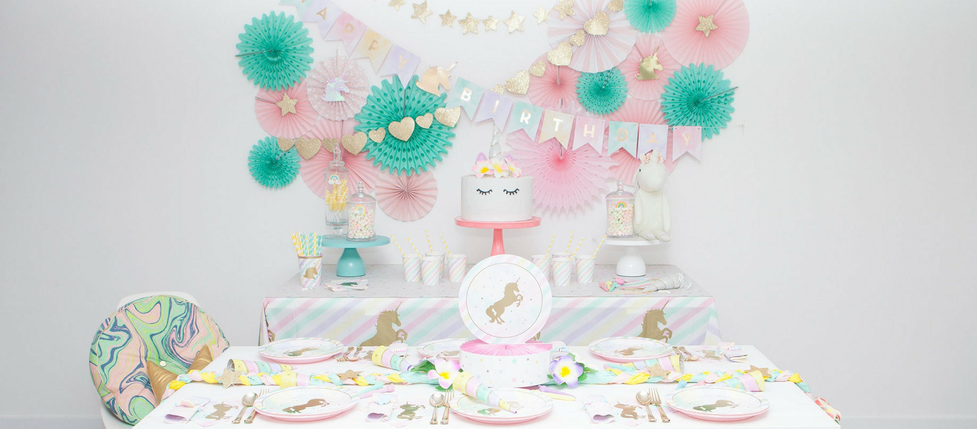 pastel unicorn birthday party sparkle hero accent table balcony chairs hardwood threshold unique end tables nautical hanging lamps half moon sofa pier one shower curtains round