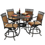 patio amusing outdoor dining sets ultimate furniture clearance black steel round height table with glass accent wicker and metal swivel chairs tables red ginger jar lamps winnipeg 150x150