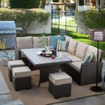 patio astonishing furniture sets outdoor set dining table with sectional sofa wedge chair glass cup snacks kitchen aid grill side modern wooden coffee designs ashley high top 150x150