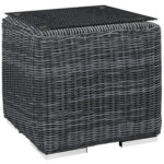 patio brown wicker side table black outdoor accent small end tables white furniture hidden drawer solid wood design plans coffee corner ikea tall nesting leather lounge chair west 150x150