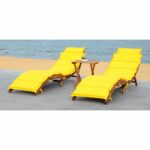 patio chaise lounges salma with cushions and side table outdoor yellow brown wicker end small crystal accent lamps piece dining set stanley furniture round folding ikea nate 150x150