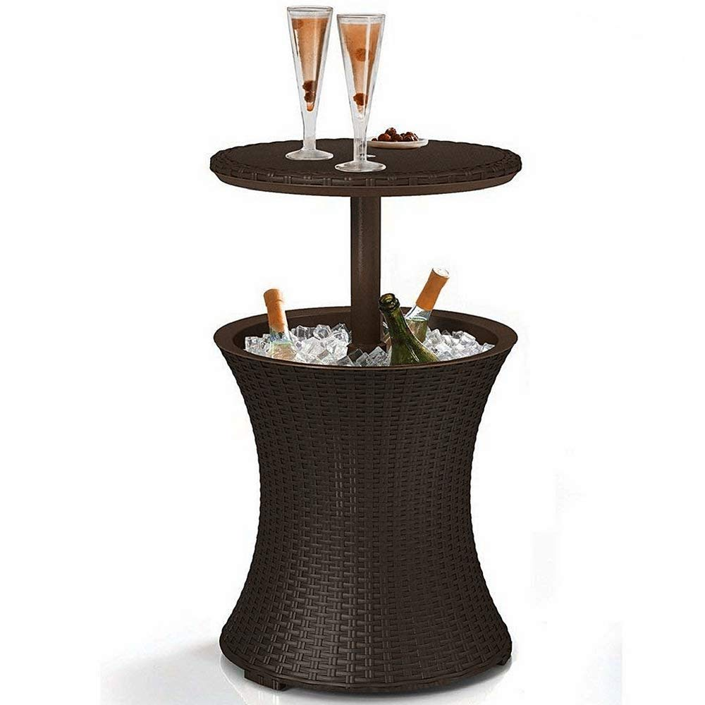 patio cooler table outdoor pull twist cool wicker storage accent style bar utility cocktail coffee deck stylish furniture wine mirrored nightstand target wells chair pottery barn