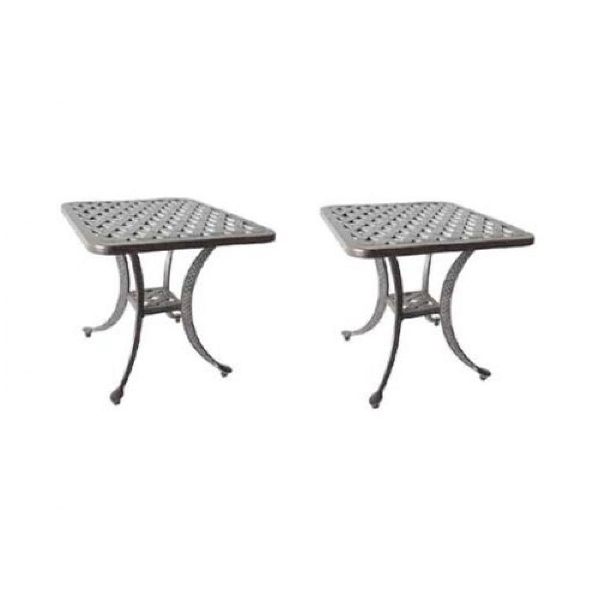 patio end table outdoor furniture side tables nassau cast aluminum accent bronze pottery barn dishes drum throne top collapsible coffee ikea lamp with usb port for sofas black