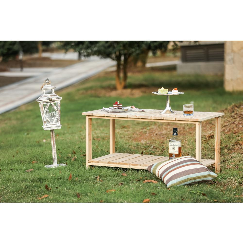 patio festival rectangle wood outdoor side table the home tables green fruit drinks recipes white marble coffee set frosted glass cylinder accent lamp backyard cooler ikea bedside
