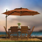 patio ideas large cantilever umbrella with teak furniture set and vase design swing arm outdoor coffee table ikea sunbrella pillows deluxe metal bench inexpensive hammocks antique 150x150