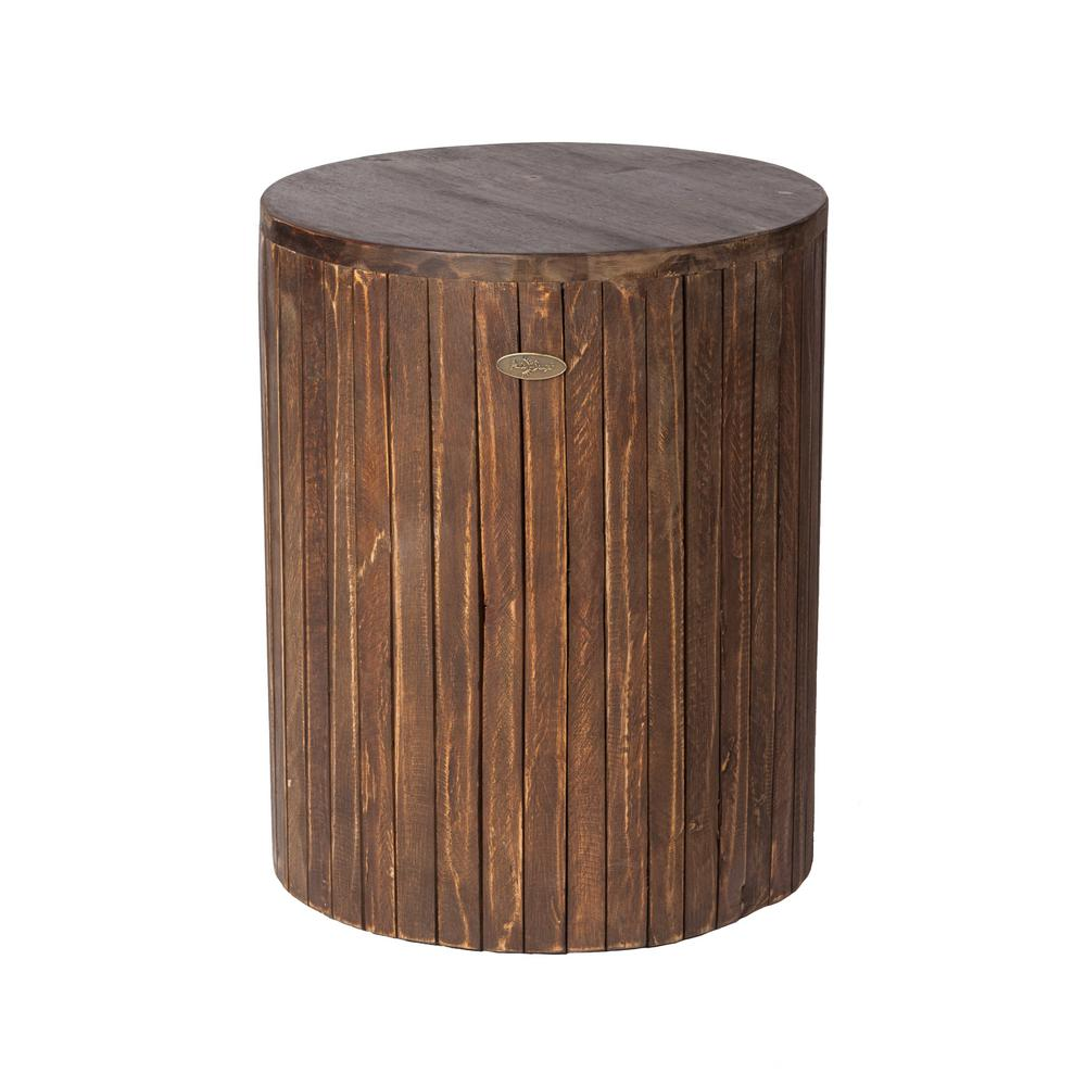 patio sense michael round wood outdoor garden stool the home side tables wooden display accent table silver and end rectangular coffee cover furniture linen napkins bulk metal
