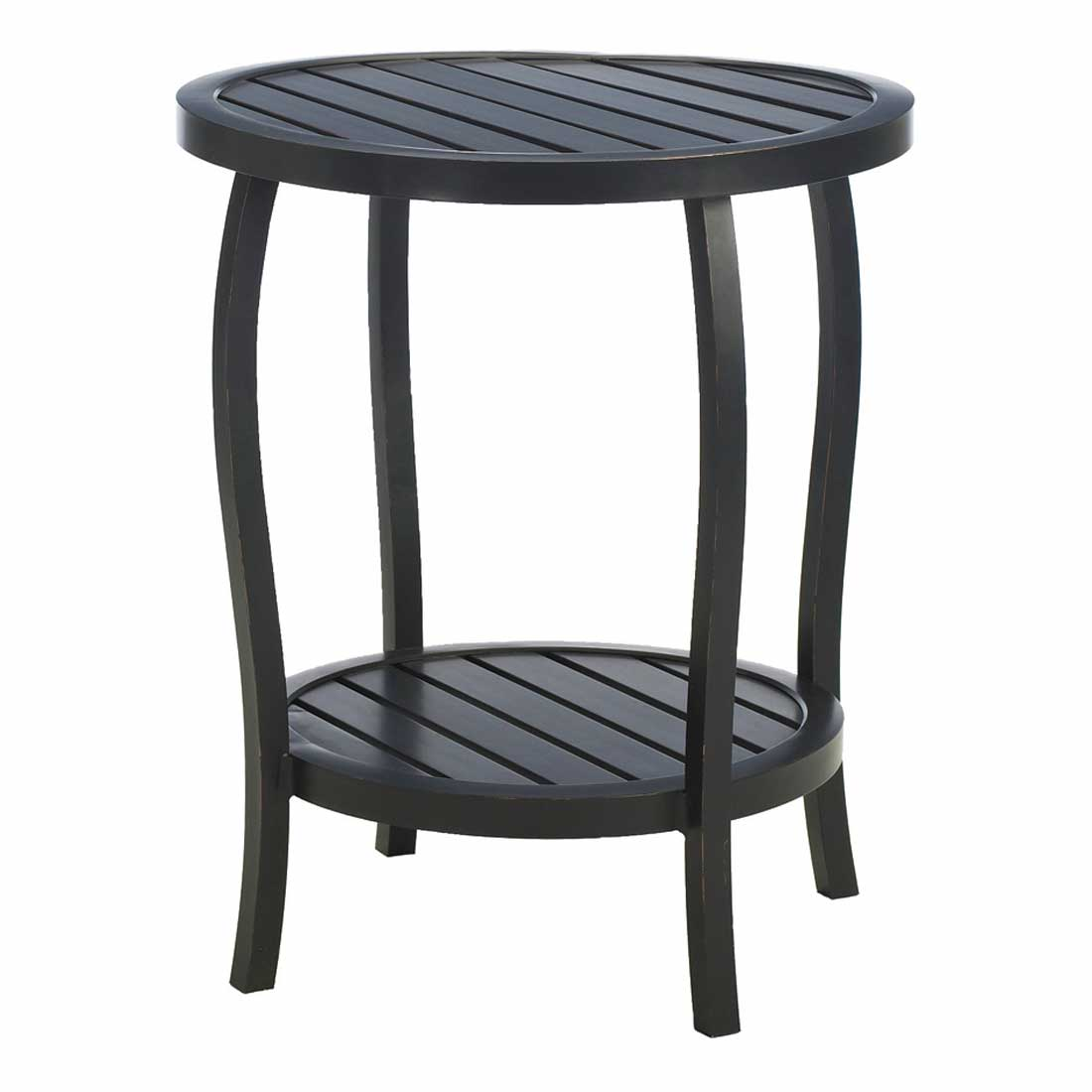 patio side table outdoor end accent furniture wood yard black round cottage metal tables umbrella hole windham cabinet with drawer ashley and chairs brown large silver wall clock