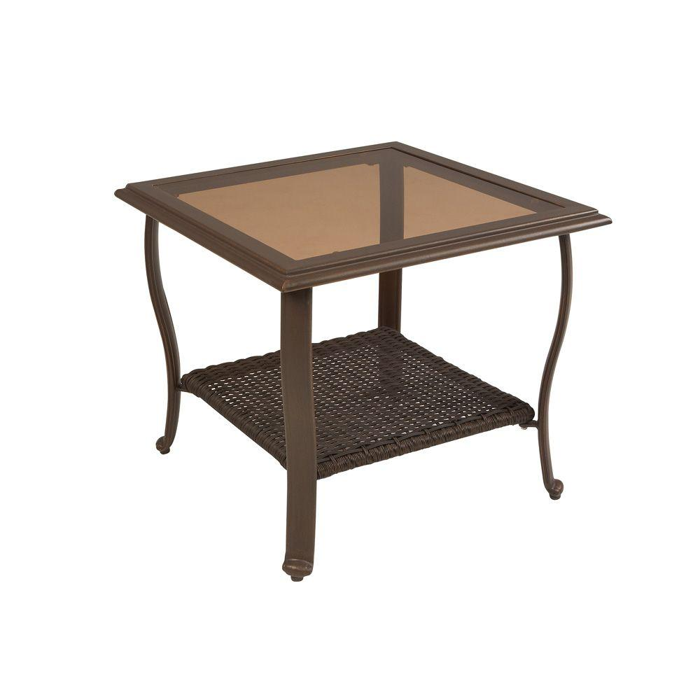 patio side table plans martha stewart living cedar island all weather wicker wrought iron accent retro designer chairs bar height with leaf small hallway console round cherry end
