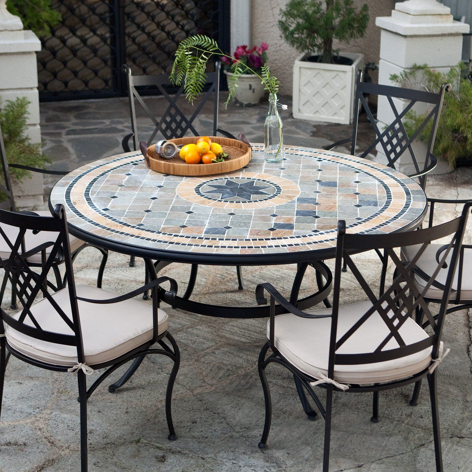 patio table mosaic clearance outdoor side brand furniture diy round dining full size whole lamp shades thomasville end tables rattan drinks espresso wood square with storage sofa