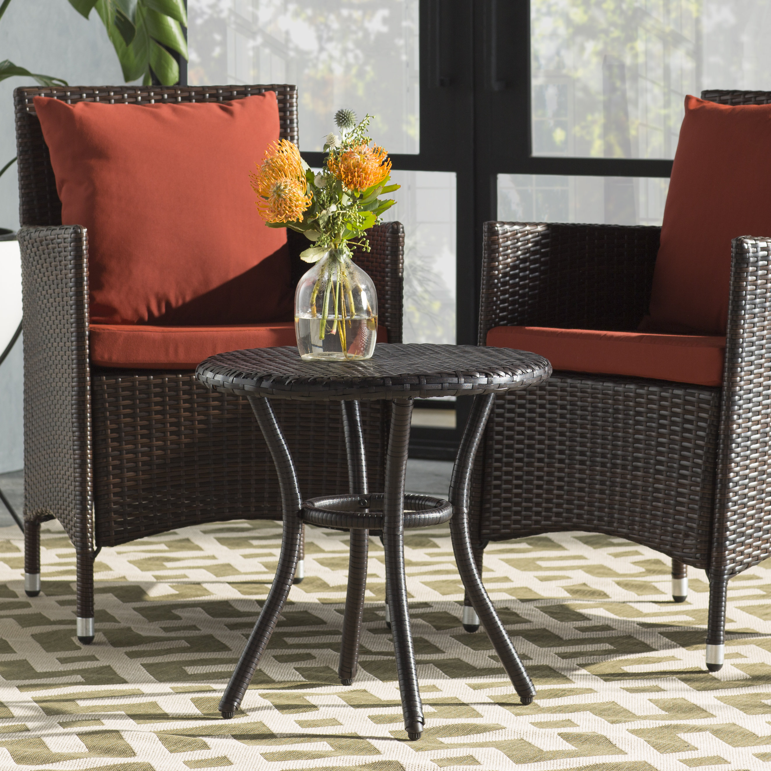 patio tables joss main belton round wicker side table stratford folding accent bronze quickview ethan allen dining blue lamp target rocking chair extra thin console entry