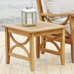 patio tables joss main default name outdoor side table brown rustic wooden trestle target small kitchen pottery barn changing oriental porcelain lamps solid brass coffee lounge 150x150