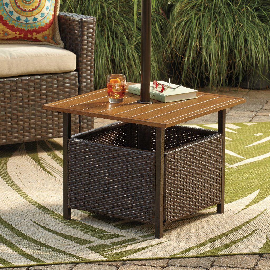 patio umbrella side table usembassyve extraordinary outdoor with hole stand offset home interior design furniture pads coffee storage ideas round telephone antique cigarette