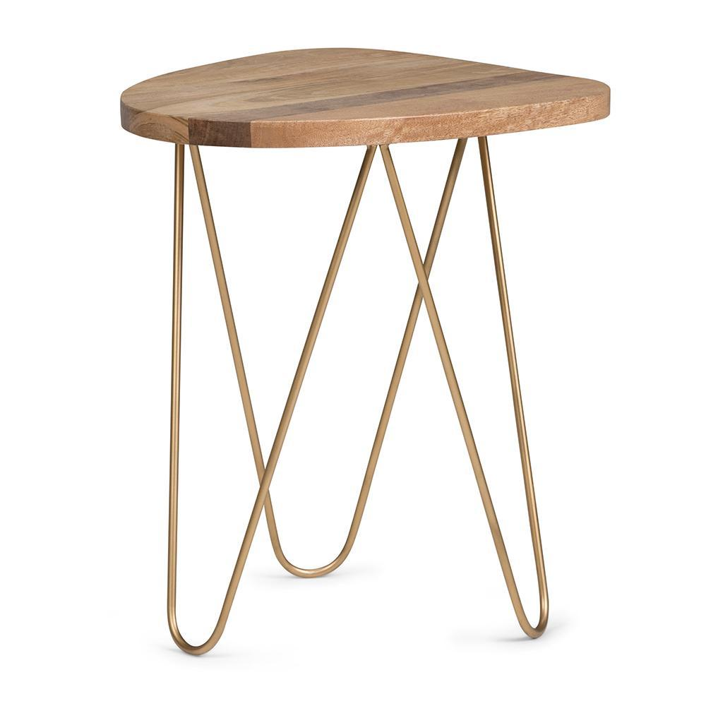 patrice metal wood accent table simpli home axcmtbl gold natural and dark grey side unfinished cabinets dining base only vintage shower curtains garden furniture white marble