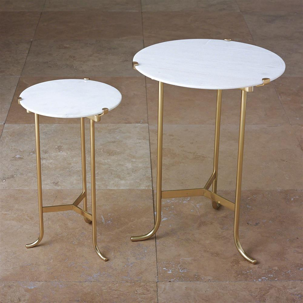pavlova hollywood regency brass white marble side table inch product accent tables round view full size bunnings cane chairs metal outdoor small counter height sets large