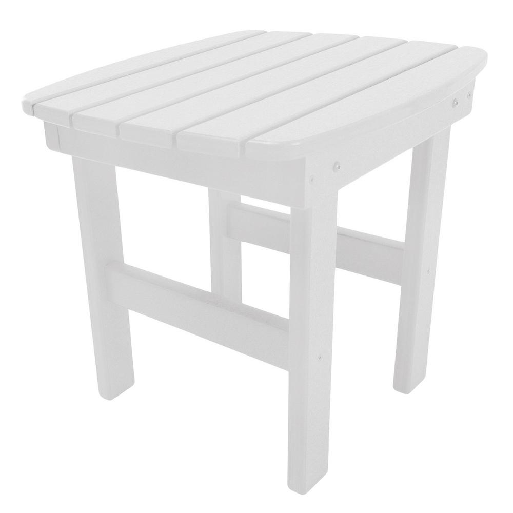 pawleys island essentials white square durawood outdoor side table tables accent shower chair target tall plant stand gray and chairs bass drum pedal round ikea bunnings couch