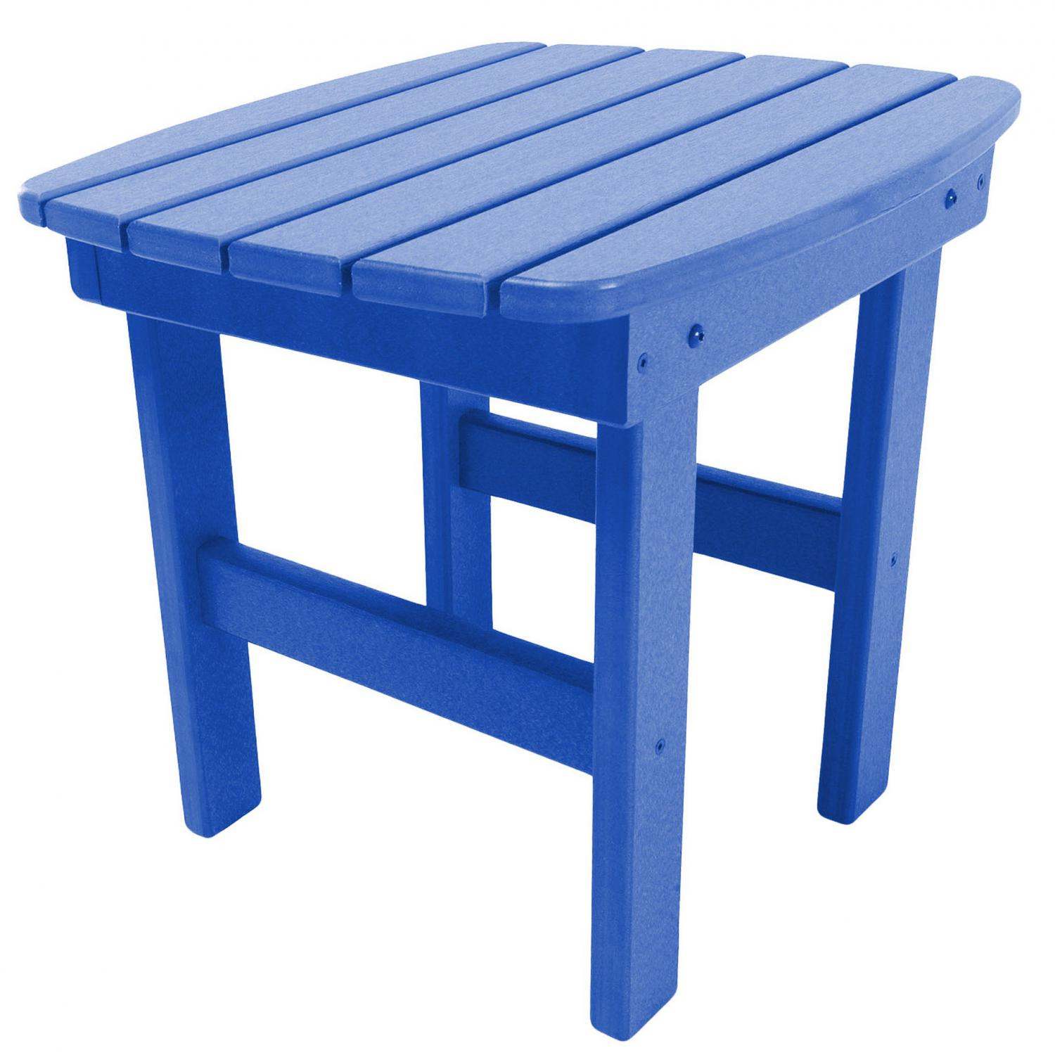 pawleys island poly lumber patio side table blue bbq guys outdoor for drop leaf dinette sets asian porcelain lamps dekor home round red tablecloth canadian tire metal accent two