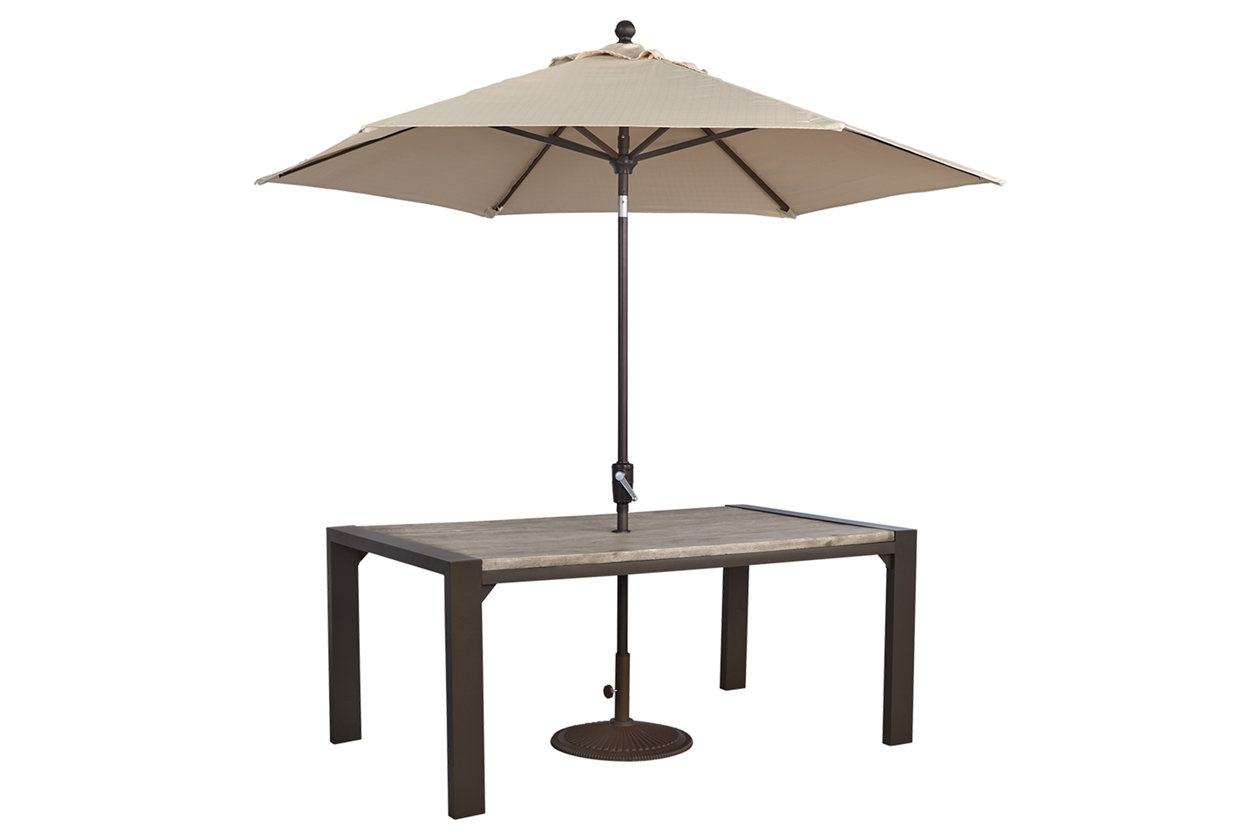 peachstone rectangular dining table ashley furniture home umb patio umbrella accent lift top coffee marble and end tables goods chairs square clear easy runner patterns free high