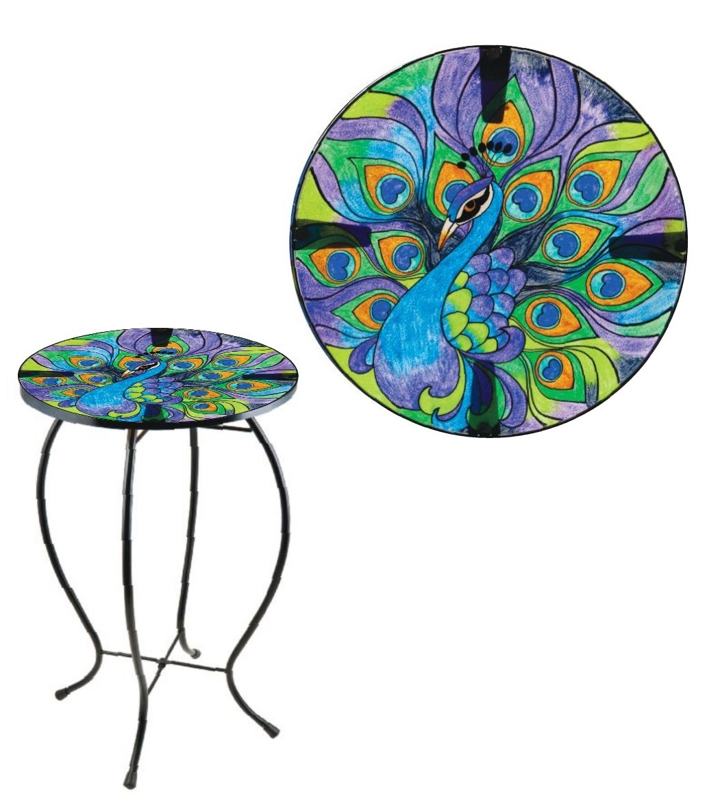 peacock glass patio accent table otdor round top jody ratke from public domain that can find other search engine and posted under unusual bedside tables oak nest small thin side